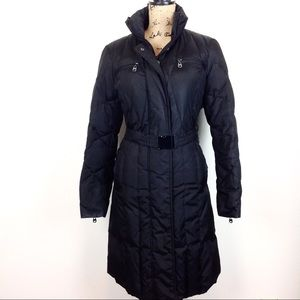 Marc NY Black Down Quilted Long Puffer Coat